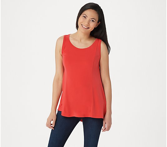 Susan Graver Modern Essentials Liquid Knit Fit and Flare Top