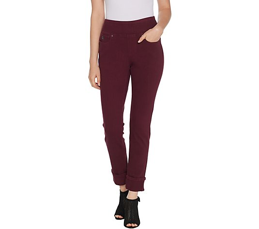 Belle by Kim Gravel Flexibelle Petite Ankle Cuffed Jeans