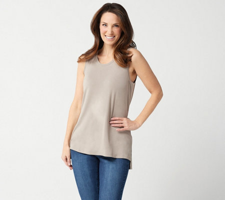 """As Is"" Lisa Rinna Collection Sleeveless Tank with Side Slits"