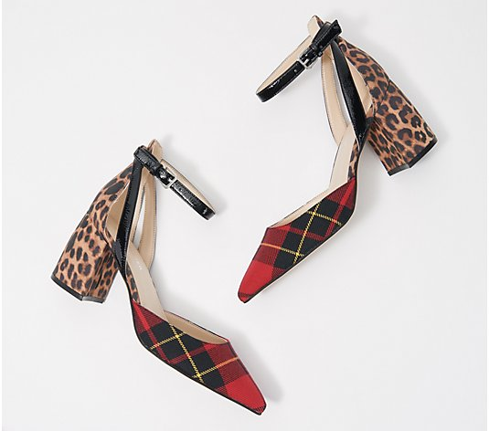 """As Is"" Marc Fisher Pointed Toe Pumps with Ankle Straps - Raie"