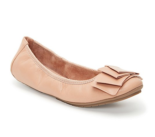 Me Too Leather Slip On Ballet Flats - Lilyana