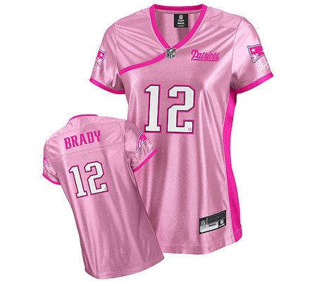 tom brady jersey pink