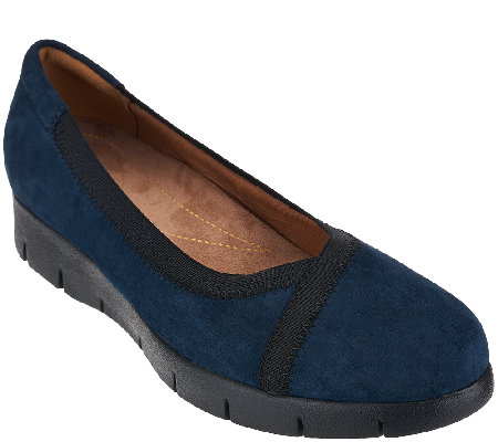 Clarks Artisan Nubuck Leather Slip-On Shoes - Daelyn Hill