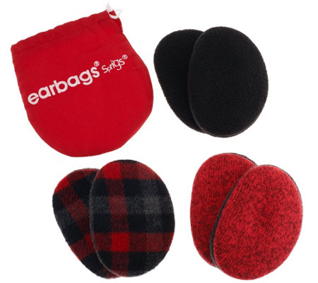 Plaid & Solid Earbags by Sprigs Set of 3