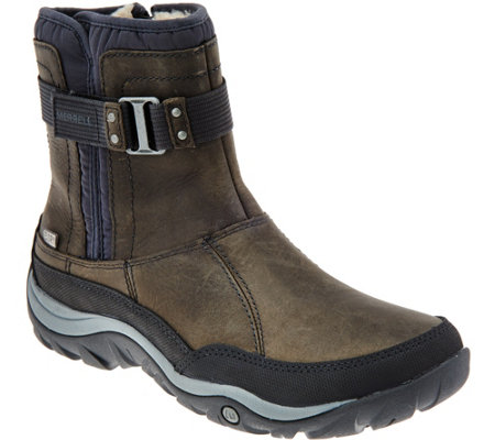 Merrell Waterproof Leather Ankle Boots - Murren Strap