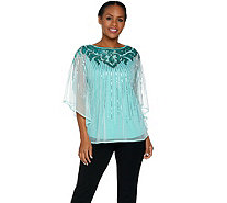 Bob Mackie's Sequin Caftan Top and Knit Tank Set - A290702