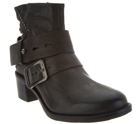 Miz Mooz Leather Ankle Boots w/ Stud Details - Faithful