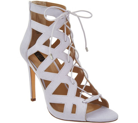 G.I.L.I. Lace-up Cut Out Heel Sandals - Floriana