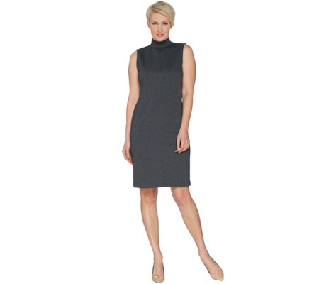 "Joan Rivers Regular Length Mock Neck ""Little Black Dress"""