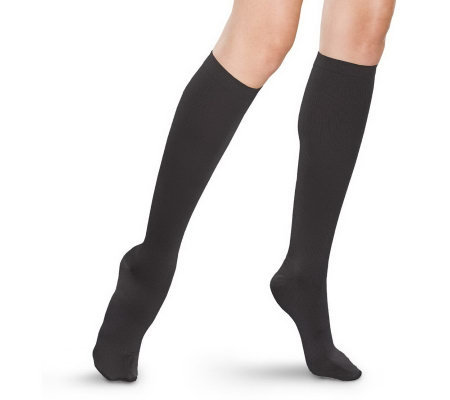 GOGO Ribbed Trouser Socks with Light Gradient Compression
