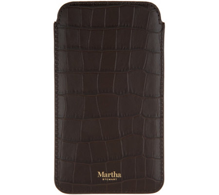 Martha Stewart Leather Glasses Sleeve