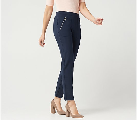 Susan Graver Regular Weekend Premium Stretch Pull-On Pants