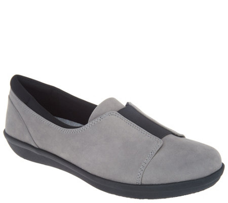 """As Is"" CLOUDSTEPPERS by Clarks Slip- On Shoes- Ayla Band"