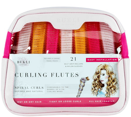 Bukli Haircare Curling Flutes & Sleeves, Set of21