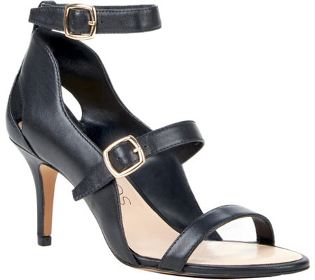 Sole Society Triple Strap Leather Sandals - Carine