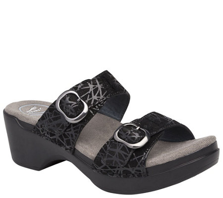 Dansko Leather Slide Sandals - Sophie