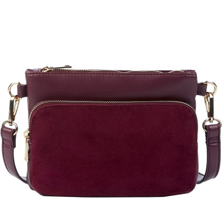 Sole Society Zippered Crossbody with DetachablePouch - Bahara