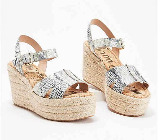 Sam Edelman Animal Print Wedge Sandals - Maura