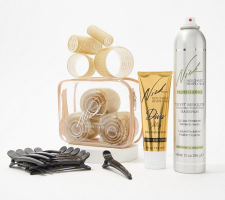 Nick Chavez 16 Piece Roller Set With Styling Products