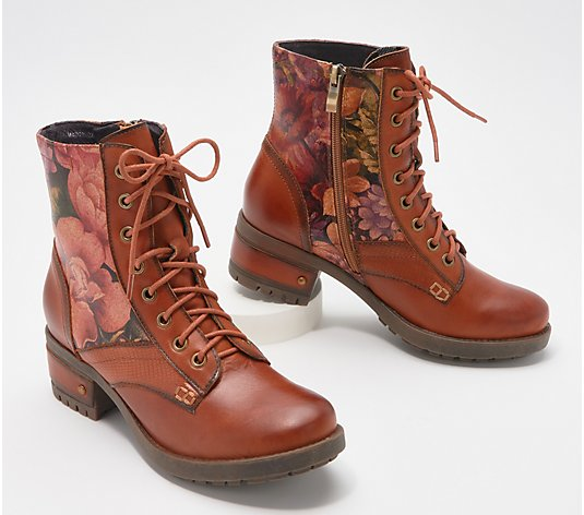 L'Artiste by Spring Step Leather Lace-up Boots - Marty