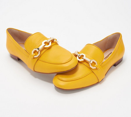 Louise et Cie Leather or Haircalf Loafers - Brone