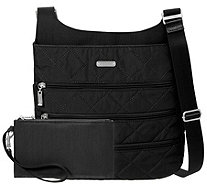 baggallini Quilted Big Zipper Bagg with RFID Wristlet - A413102