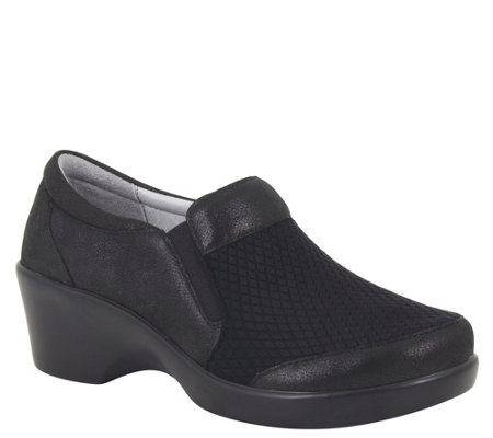 Alegria Slip-on Leather Fashion Wedges -Eryn