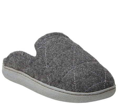 Dearfoams Women S Wool Inspired Scuff Slippers