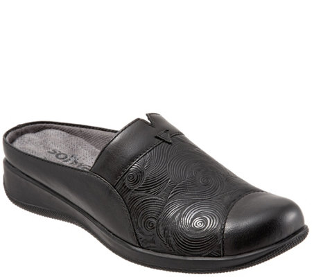 SoftWalk Comfortable Slip-On Mules - San MarcosWoven