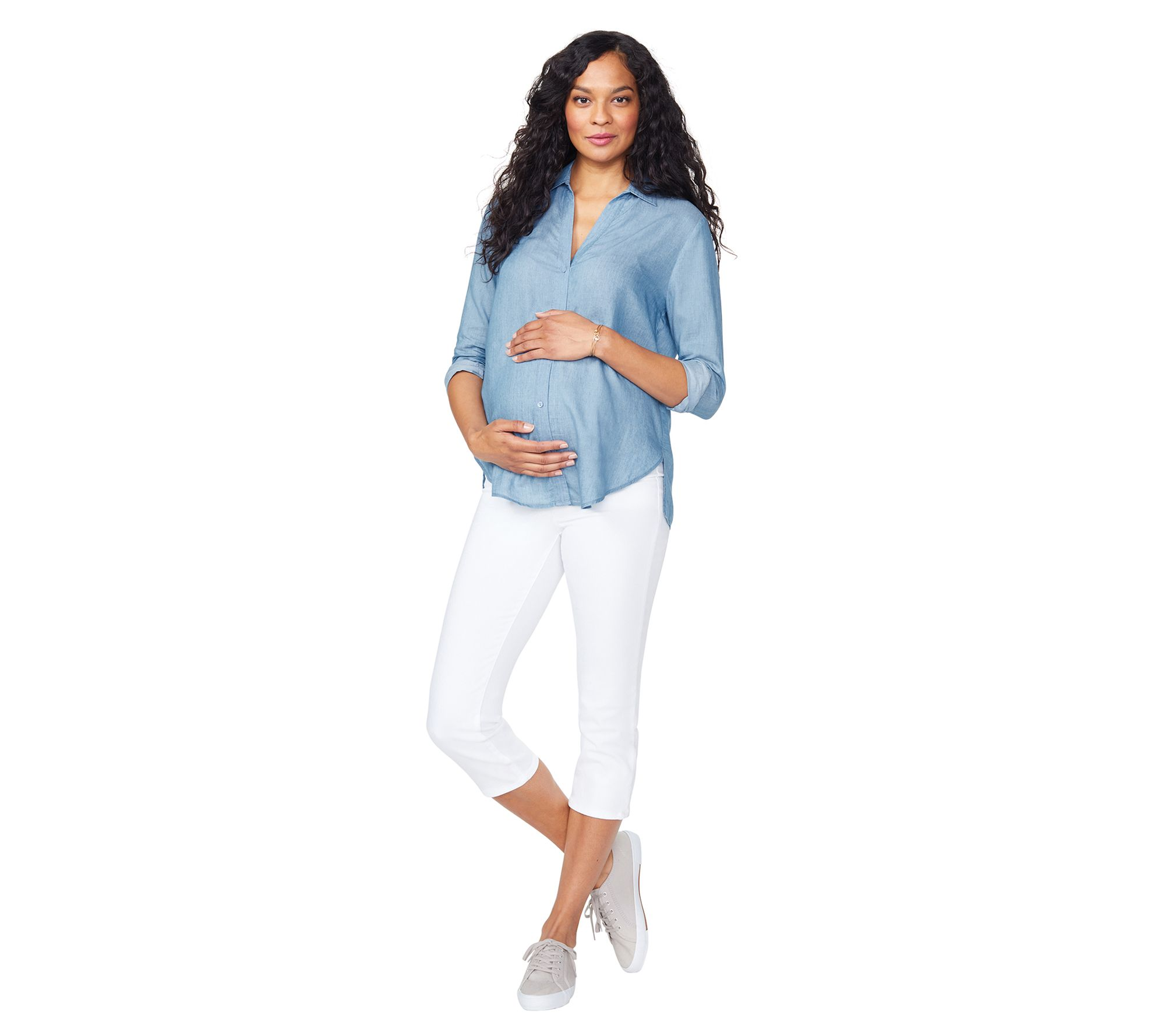 NYDJ Womens Maternity Crop Jean