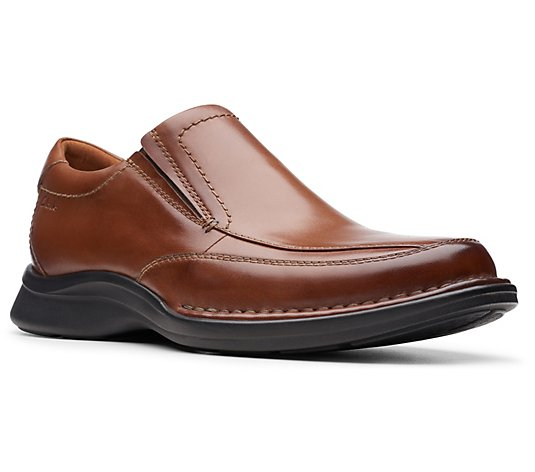 Clarks Collection Men's Leather Slip-Ons Shoes- Kempton Free