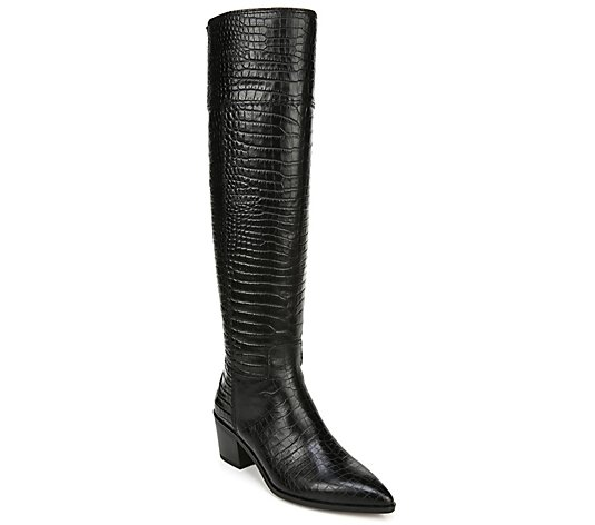 Franco Sarto Leather Western Inspired Tall Boots - Shannon