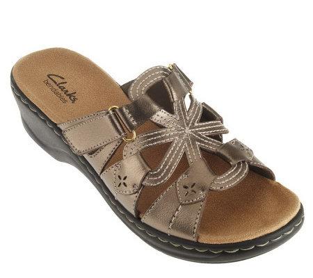 8da54acf92d Clarks Bendables Leather Lightweight Sandals - Page 2 — QVC.com