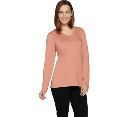 Denim & Co. Essentials Perfect Jersey Long Sleeve Top