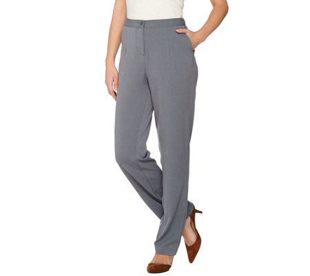 Linea by Louis Dell'Olio Solid Straight Leg Pant