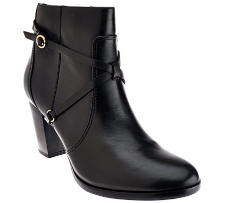 """As Is"" Isaac Mizrahi Live! Ankle Booties with Strap Details"