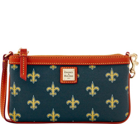Dooney & Bourke NFL Saints Large Slim Wristlet