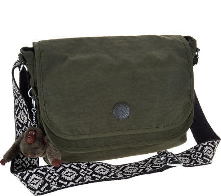 Kipling Nylon Crossbody Handbag with Novelty Strap - Brooklyn