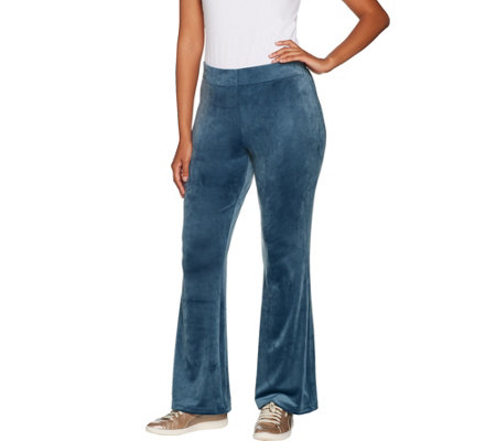 AnyBody Loungewear Velour Flare Pants