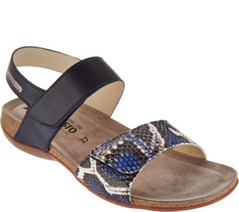 56526864c4d6 MEPHISTO Leather Double Strap Sandals - Agave - A298803