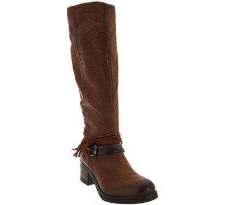 Miz Mooz Leather Tall Shaft Boots - Sugar