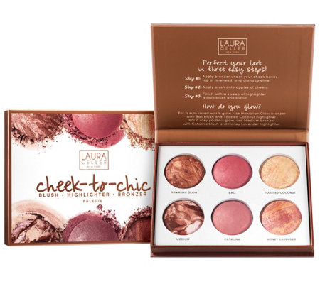 Laura Geller Cheek to Chic Blush, Highlight, & Bronze Palette