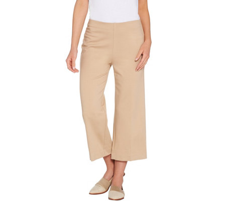 Kelly by Clinton Kelly Regular Pull-On Ponte Culotte Pants