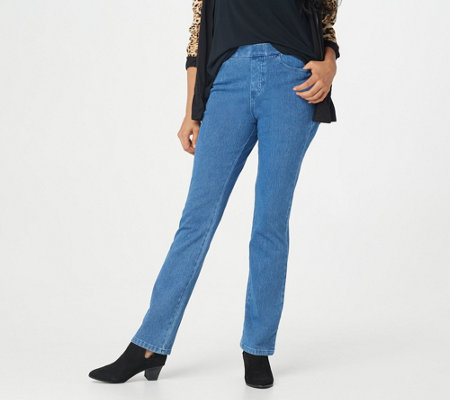 """As Is"" Belle by Kim Gravel Flexibelle Embellished Jeans- Petite"