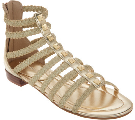 """As Is"" Marc Fisher Braid Detailed Gladiator Sandals-Pepita"