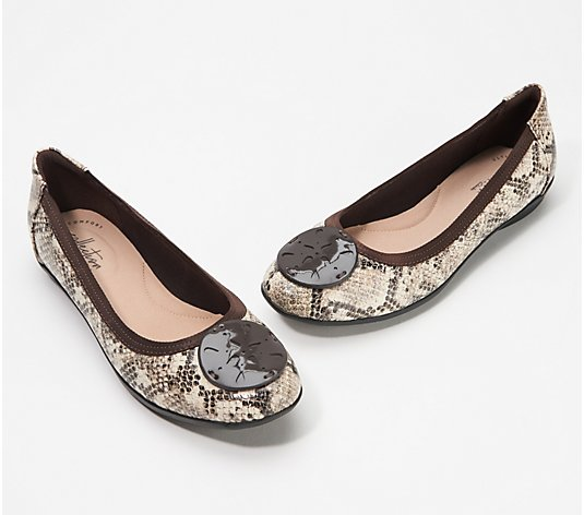 Clarks Collection Leather or Suede Flats - Gracelin Zone
