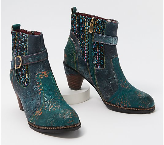L'Artiste by Spring Step Leather Ankle Boots - Nancies