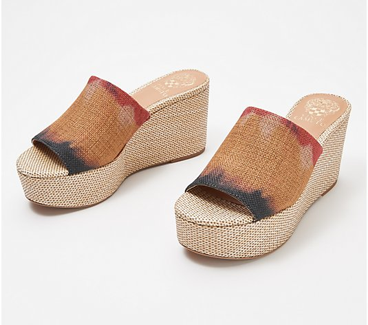 Vince Camuto Leather or Textile Slide Wedges - Gadgen