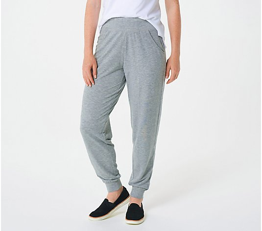 Quacker Factory Regular Anytime Joggers with Metallic Stripe