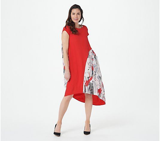 Truth + Style Cotton Blend Abstract Printed Dress